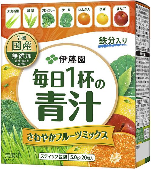 Ito En Itoen Green Juice Aojiru Barley Leaves Powder with Fruit Mix 5.0g x 20 Packets