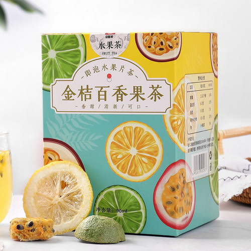 YIXIANGCHUN Brand Kumquat Passion Fruit Mixed Fuits Loose Herbal Tea 90g
