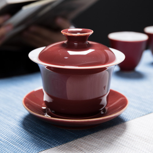 Ji Hong Liang Guang Yang Zhong Porcelain Gongfu Tea Gaiwan Brewing Vessel 165ml