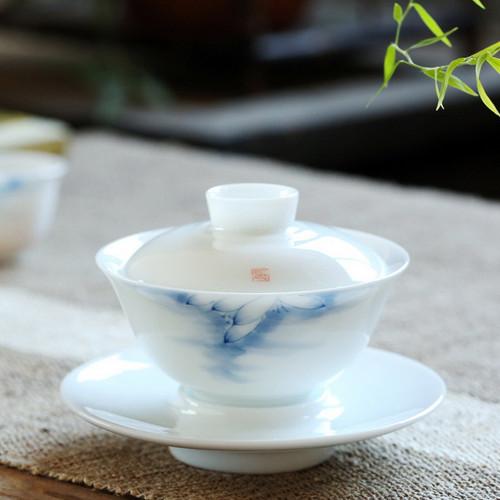 Lan He Yun Gu Porcelain Gongfu Tea Gaiwan Brewing Vessel 175ml