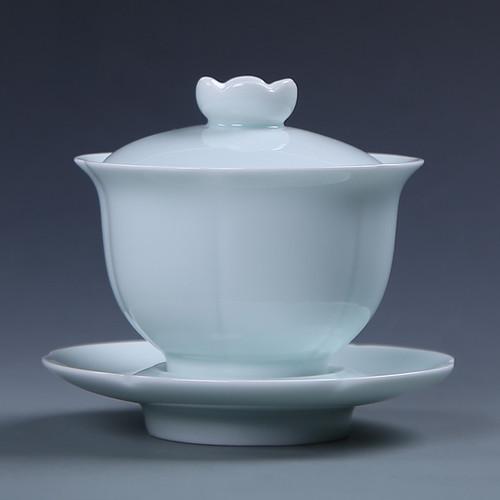 Petal Porcelain Gongfu Tea Gaiwan Brewing Vessel 160ml