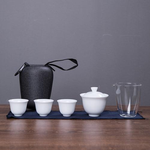 Simplicity Porcelain Kungfu Tea Teapot And Teacup Set