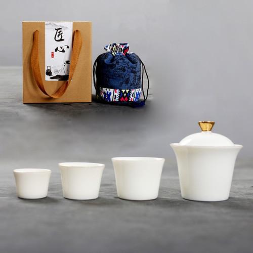 Gaiwan Porcelain Kungfu Tea Teapot And Teacup Set