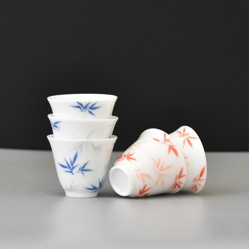 Zhu Ying Ying Xin Porcelain Gongfu Tea Tasting Teacup 50ml