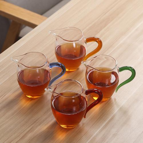 Large Penguin Glass Fair Cup Of Tea Serving Pitcher Creamer 350ml