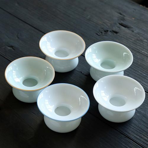 White Jade Dehua Porcelain Gongfu Tea Strainer