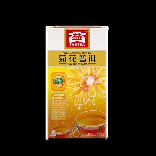 TAETEA Brand Chrysanthemum Pu-erh Tea Tea Bag 2019 40g Ripe