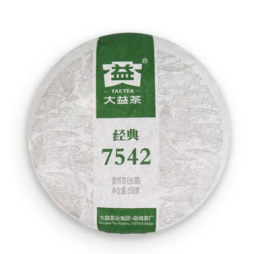 TAETEA Brand 7542 Pu-erh Tea Cake 2014 150g Raw