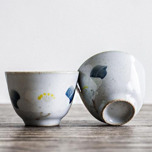 Camellia Ceramic Gongfu Tea Tasting Teacup 40ml