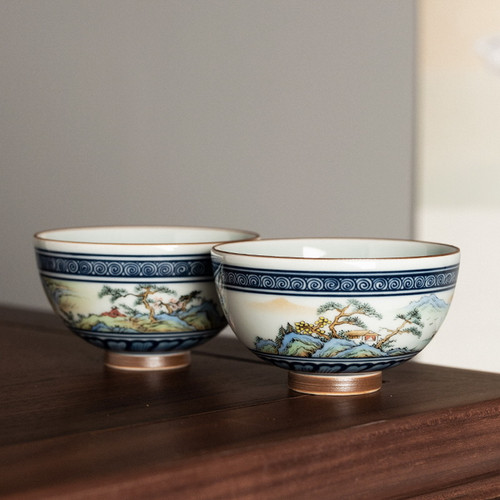 Xi Shan Ceramic Gongfu Tea Tasting Teacup 70ml