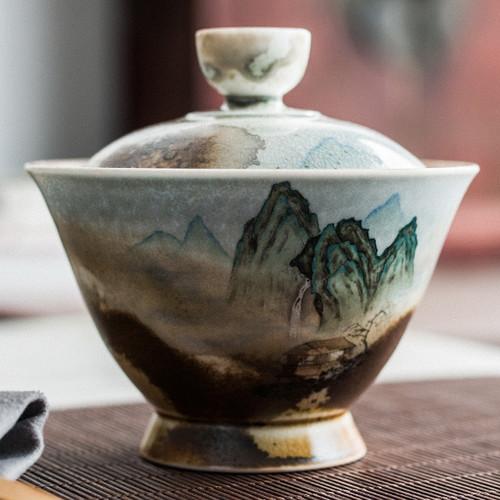 Qing Shan Gu Ceramic Gongfu Tea Gaiwan Brewing Vessel 140ml
