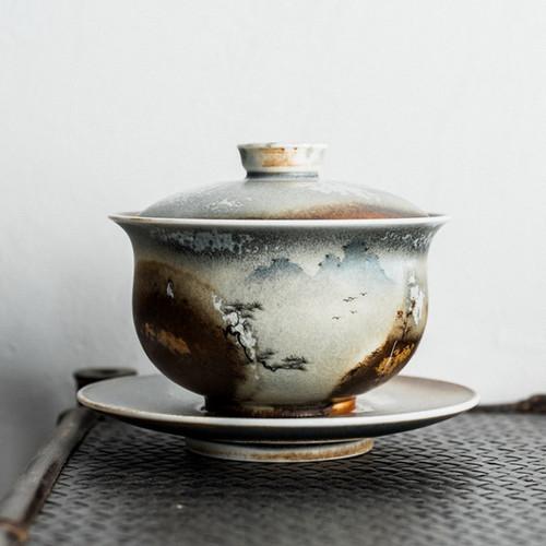 Ren Wen Xiao Jing Ceramic Gongfu Tea Gaiwan Brewing Vessel 135ml