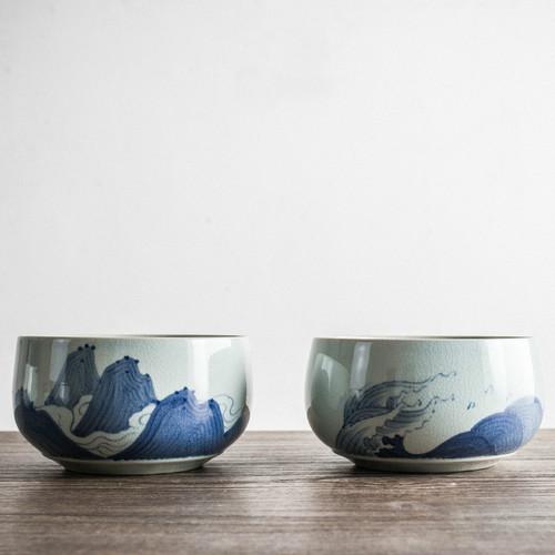 Sheng Shan Qiu Shui Ceramic Cha Xi Gongfu Tea Ceremony Water Bowl for Teacups 1200ml