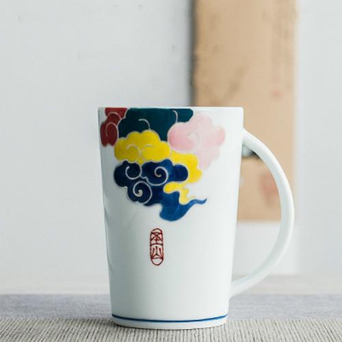 Wu Se Xiang Yun Ceramic Tea Mug 420ml