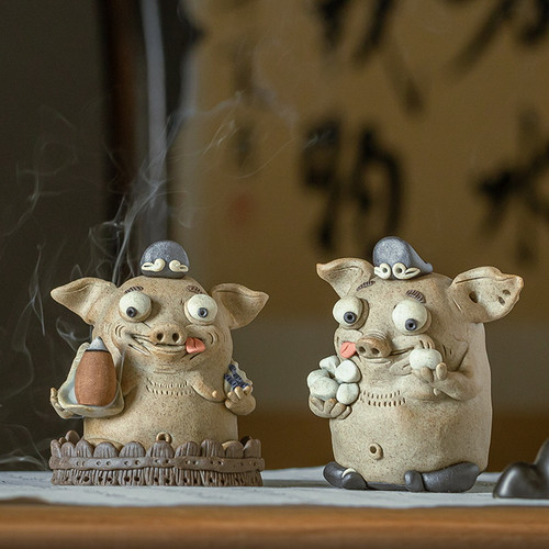 Zhu Ba Jie Ceramic Stick Incense Holder