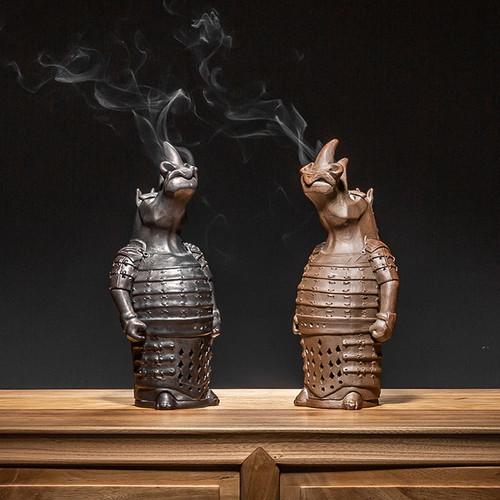 General Rhino Ceramic Incense Cones Holder Ash Catcher Tray