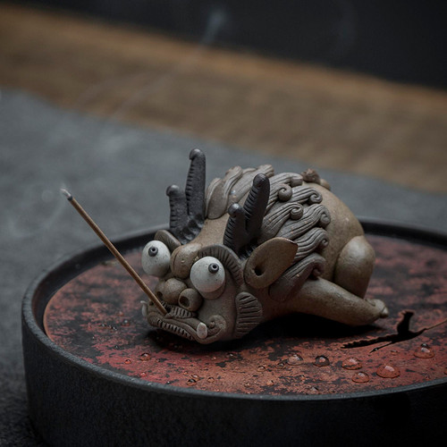Dragon Pig Dragon Cat Ceramic Stick Incense Holder