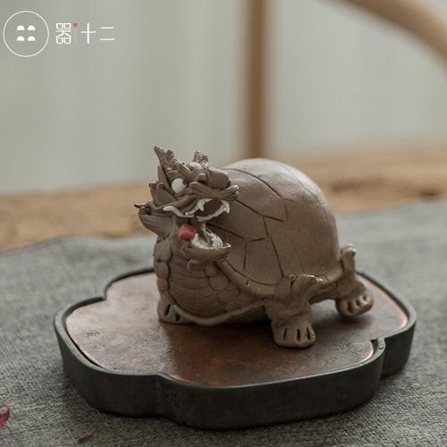 Long Jiu Zi Bi Xi Ceramic Tea Pet Table Decoration Ornament