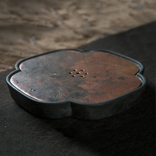 Hai Tang Copper Cover Water Storage Ceramic Tea Tray