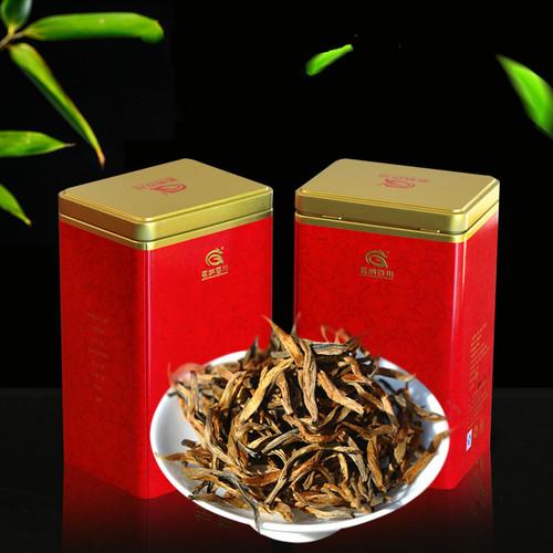 MINGNABAICHUAN Brand Big Golden Bud Dian Hong Yunnan Black Tea 125g*2
