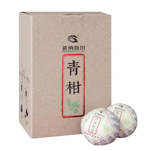 MINGNABAICHUAN Brand Six Star Qing Gan Chenpi Orange Pu'er Yunnan Pu-erh Tea Stuffed Tangerine Ripe 2019 250g