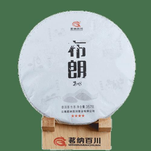 MINGNABAICHUAN Brand Four Star Bulang Pu-erh Tea Cake 2018 357g Raw