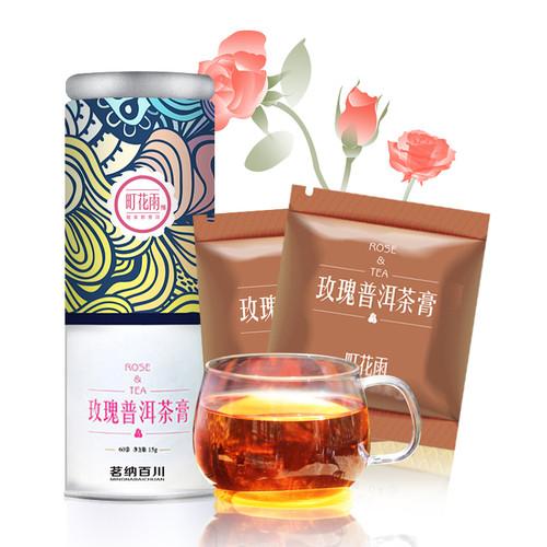 MINGNABAICHUAN Brand Ting Hua Yu Instant Rose Pu-Erh Tea Essence Powder 15g Raw