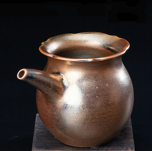 Chai Shao Fu Bao Handmade Wood-Fired Ceremic Fair Cup Of Tea Serving Pitcher Creamer