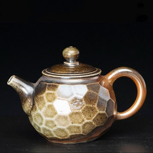 Cut Corner Bing Yan Handmade Wood-Fired Ceremic Teapot