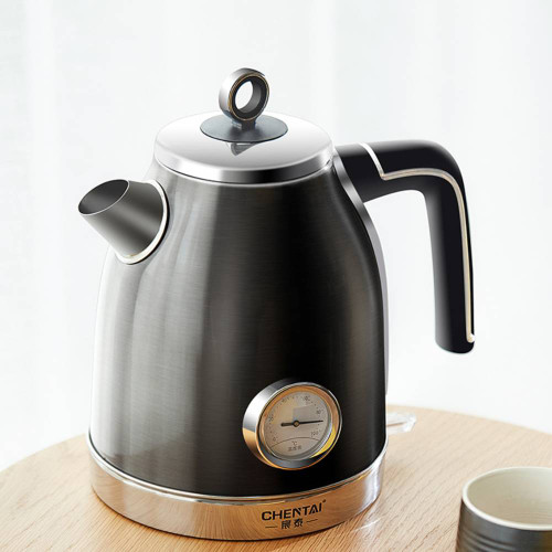 Chentai Electric Stainless Steel Tea Kettle with Thermometer 1.7L 220V GCK022-C