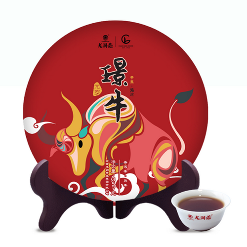 LONGRUN TEA Brand Jing Niu Pu-erh Tea Cake 2020 357g Ripe