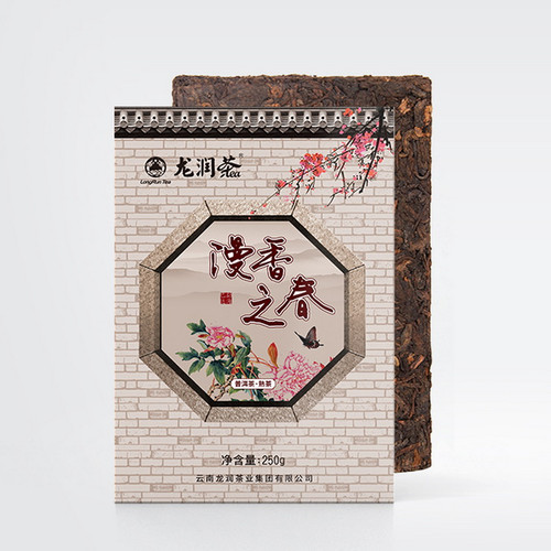 LONGRUN TEA Brand Man Xiang Zhi Chun Pu-erh Tea Brick 2019 250g Ripe