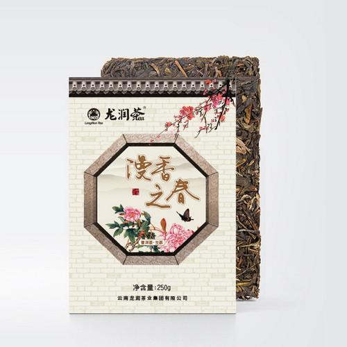 LONGRUN TEA Brand Man Xiang Zhi Chun Pu-erh Tea Brick 2019 250g Raw