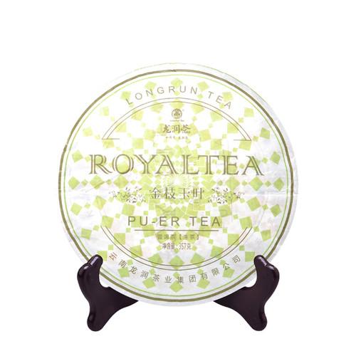 LONGRUN TEA Brand Golden Branches Jade Leaves Pu-erh Tea Cake 2014 357g Raw