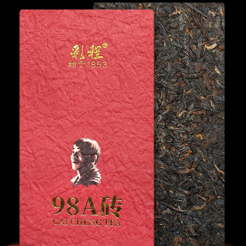 CAICHENG Brand 98A Brick Ancient Tree Pu-erh Tea Brick 1998 250g Ripe