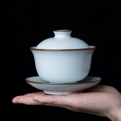 Yue Bai Porcelain Gongfu Tea Gaiwan Brewing Vessel 170ml
