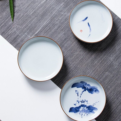 Kai Pian Yang Jin Xian Water Storage Porcelain Tea Tray 160x160x35mm
