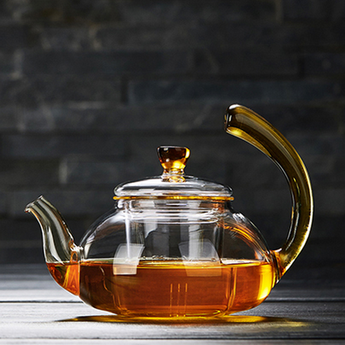 Ling Hu Glass Lead Free Borosilicate Heat Resistant Teapot With Infuser
