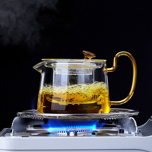 Shi Yi Glass Lead Free Borosilicate Heat Resistant Teapot With Infuser