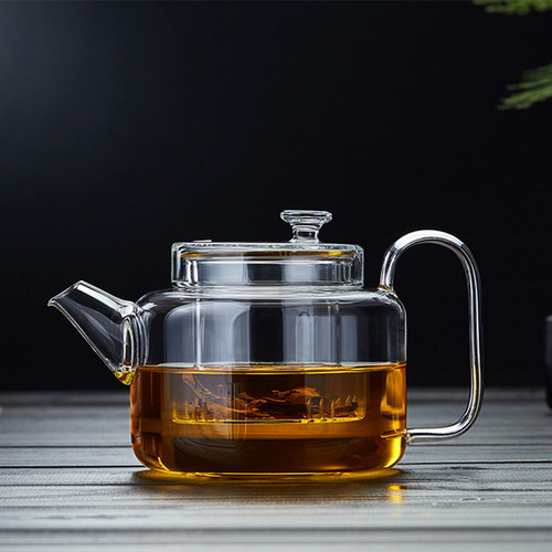 Ling Yun Glass Lead Free Borosilicate Heat Resistant Teapot With Infuser