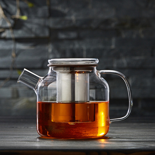 Freezing Point Glass Lead Free Borosilicate Heat Resistant Teapot Stainless Steel Infuser 1000ml