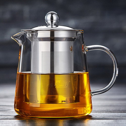 Ta Ding Glass Lead Free Borosilicate Heat Resistant Teapot Stainless Steel Infuser