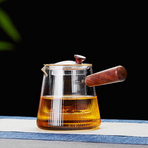 Jing Xin Glass Lead Free Borosilicate Heat Resistant Teapot With Infuser