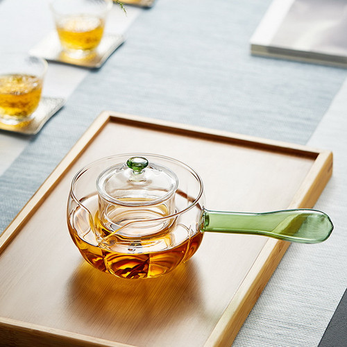 Ju Ban Glass Lead Free Borosilicate Heat Resistant Teapot With Infuser