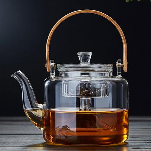 Ju Ban Glass Lead Free Borosilicate Heat Resistant Teapot With Infuser 1000ml