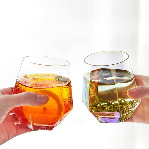 Hexagon Glass Teacup 300ml