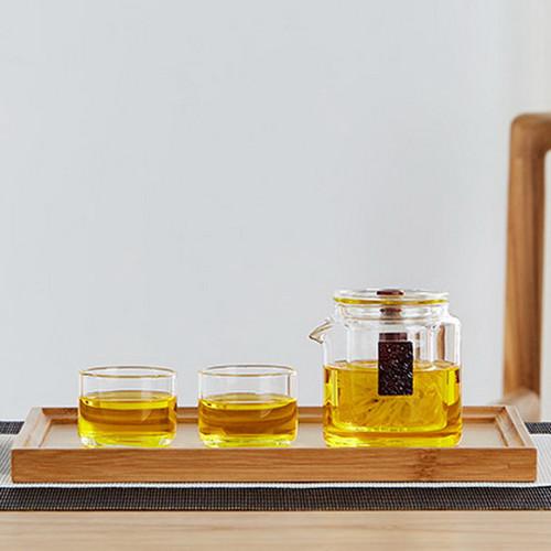 Shuang Shi Glass Kungfu Tea Teapot And Teacup Set