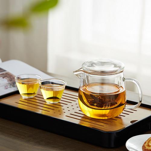 Mu Lan Glass Kungfu Tea Teapot And Teacup Set