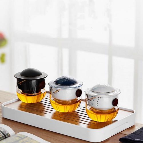 ET Planet Glass Kungfu Tea Teapot And Teacup Set