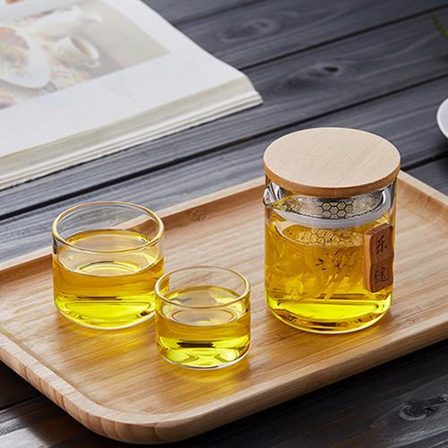 Transparent Glass Kungfu Tea Teapot And Teacup Set